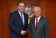 IAEA Director General Yukiya Amano met with Stefan Löfven, Swedish Prime Minister, at the IAEA headquarters in Vienna, Austria on 29 November 2016.