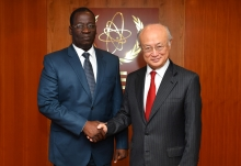 IAEA Director General Yukiya Amano met with Alassane Seidou, Minister of Health of Benin, at the IAEA headquarters in Vienna, Austria on 29 May 2017.