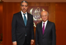 IAEA Director General Yukiya Amano met with Aziz Rabbah, Minister of Energy, Mines and Sustainable Development of the Kingdom of Morocco, at the IAEA headquarters in Vienna, Austria on 12 May 2017.