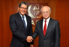 IAEA Director General Yukiya Amano met with Jaime Alfredo Miranda Flamenco, Deputy Minister of Foreign Affairs of El Salvador, at the IAEA headquarters in Vienna, Austria on 29 May 2017.