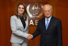 IAEA Director General Yukiya Amano met with Ana Katuska Drouet Salcedo, Minister of Aquaculture and Fisheries of Ecuador at the IAEA headquarters in Vienna, Austria on 27 September 2017