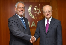IAEA Director General Yukiya Amano  met  with Carlos Perez Garcia, Minister of Energy and Natural Resources Non-renewable of Ecuador at the IAEA headquarters in Vienna, Asutria. 19 June 2018