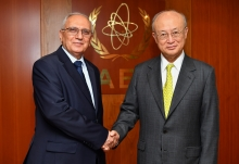 IAEA Director General Yukiya Amano  met  with HE Dr. Abdulrazzaq Alhajessa, Minister of Higher Education and Science and Technology of Iraq at the IAEA headquarters in Vienna, Austria. 21 June 2018