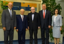 IAEA Director General Yukiya Amano met with United States Congressman Ted Deutch, Senior Member of the House Foreign Affairs Committee on the Middle East and North Africa during his official visit to the IAEA Headquarters in Vienna, Austria. 5 July 2018.