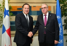 Mikhail Chudakov, IAEA Acting Director General, and Head of the Department of Nuclear Energy met with HE Mr Juan Carlos Varela, President of the Republic of Panama during his official visit to the IAEA Headquarters in Vienna, Austria. 15 October 2018.