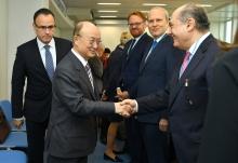 IAEA Director General Yukiya Amano met with the new ambassadors at the IAEA headquarters in Vienna, Austria. 9 November 2018