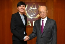 IAEA Director General Yukiya Amano met with HE Ms Ine Eriksen Søreide, Foreign Minister of Norway at the Agency headquarters in Vienna, Austria. 27 November 2018