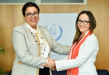 Najat Mokhtar, IAEA Acting Director General and Head of the Department of Nuclear Sciences and Applications met HE Ms Verónica Espinosa Serrano, Minister of Public Health of Ecuador, during her official visit at the Agency headquarters in Vienna, Austria on 15 March 2019.
