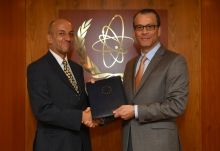 Cornel Feruta, IAEA Acting Director General met with H.E. Mr. Stephan Klement, the newly appointed Head of the Delegation of the European Union during his visit to the Agency headquarters in Vienna, Austria. 3 October 2019