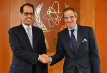 IAEA Director General Rafael Mariano Grossi met with HE Mr Mohamed Mahmoud Ould Brahim Khlil, Resident Representative of Mauritania to the IAEA during his official visit to the Agency headquarters in Vienna, Austria. 7 February 2020