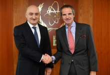 HE Mr David Dondua, Resident Representative of Georgia to the IAEA, met with IAEA Director General Rafael Mariano Grossi during a courtesy visit to the Agency headquarters in Vienna, Austria. 17 February 2020