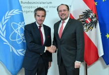IAEA Director General Rafael Mariano Grossi met with Alexander Schallenberg, Minister of Foreign Affairs of Austria during a courtesy call at the Federal Ministry of European and International Affairs, Minoritenplatz 8, 1010 Vienna, Austria