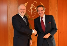Dr. John Barrett, President, Portolan Global Inc., met with IAEA Director General Rafael Mariano Grossi during his official visit to the Agency headquarters in Vienna, Austria. 18 February 2020