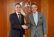 HE Mr. Ignazio Cassis, Head of the Federal Department of Foreign Affairs of Switzerland, met with IAEA Director General Rafael Mariano Grossi during his official visit to the Agency headquarters in Vienna, Austria, 21 February 2020.