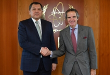 HE Mr Nurlan Nogayev, Minister of Energy of Kazakhstan, met with IAEA Director General Rafael Mariano Grossi during his official visit to the Agency headquarters in Vienna, Austria, 5 March 2020.