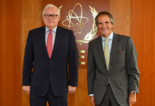 Rafael Mariano Grossi, IAEA Director General, met with HE Mr. Sergei Ryabkov, Deputy Minister of Foreign Affairs of the Russian Federation during his official visit to the Agency headquarters in Vienna, Austria. 18 August 2020