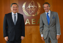 IAEA Director General Rafael Mariano Grossi met with HE Mr. Fu Cong, Director General of Department of Arms Control, Ministry of Foreign Affairs of The People's Republic of China during his official visit to the Agency headquarters in Vienna, Austria. 31 August 2020