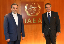 IAEA Director General Rafael Mariano Grossi met with HE Mr. Seyed Abbas Araghchi, Deputy Foreign Minister of the Islamic Republic of Iran during his official visit to the Agency headquarters in Vienna, Austria. 1 September 2020