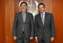 Rafael Mariano Grossi, IAEA Director General met with HE Mohsen Baharvand, Deputy Foreign Minister for Legal and International Affairs of the Islamic Republic of Iran, during his official visit to the Agency headquarters in Vienna, Austria.