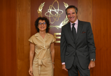 Rafael Mariano Grossi, IAEA Director General, met with Ms. Anne Lazar Sury, Governor to the IAEA Board of Governors,, and Director for International Affairs, French Alternative and Atomic Energy Commission, during her official visit to the Agency headquarters in Vienna, Austria.