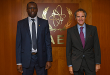 Rafael Mariano Grossi, IAEA Director General, met with HE Mr Cheikh Tidiane Sall, Resident Representative of Senegal to the IAEA, during a courtesy visit at the Agency headquarters in Vienna, Austria. 28 September 2020