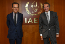 Rafael Mariano Grossi, IAEA Director General met with Axel Kenes, Director General for Multilateral Affairs at the Belgian Ministry of Foreign Affairs during his official visit at the Agency headquarters in Vienna, Austria. 9 October 2020