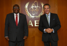 Rafael Mariano Grossi, IAEA Director General, met with HE Mr. Robinson Njeru Githae, Resident Representative of Kenya to the IAEA, as they discussed the Agency's Assistance on COVID-19 to Kenya and to further strengthen cooperation between the IAEA and Kenya. Vienna, Austria. 16 October 2020