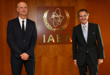 Rafael Mariano Grossi, IAEA Director General, met with HE Mr. Stef Blok, Minister of Foreign Affairs of the Kingdom of the Netherlands during his official visit at the Agency headquarters in Vienna, Austria.5 November 2020.