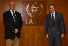 Rafael Mariano Grossi, IAEA Director General, met with Stephan Klement, European Union Ambassador, Head of Delegation to the International Organisations in Vienna, during his official visit to the Agency headquarters in Vienna, Austria. 9 November 2020.