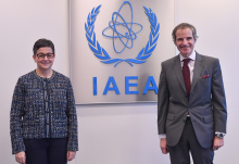 Rafael Mariano Grossi, IAEA Director General, met with HE Ms. Maria Aránzazu González Laya, Minister for Foreign Affairs of Spain during her official visit at the Agency headquarters in Vienna, Austria. 12 March 2021.