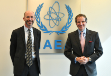 Rafael Mariano Grossi, IAEA Director General, met with Robert Malley, Special Envoy for Iran, US Department of State, during his official visit at the Agency headquarters in Vienna, Austria. 7 April 2021.