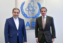 IAEA Director General Rafael Mariano Grossi met with HE Dr. Seyed Abbas Araghchi, Deputy Foreign Minister for Political Affairs of the Islamic Republic of Iran during his official visit at the Agency headquarters in Vienna, Austria. 8 April 2021.