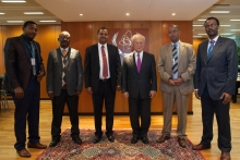 IAEA Director General Yukiya Amano met with the Ethiopian delegation during their visit to the IAEA headquarters in Vienna, Austria. 20 December 2016.