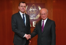 IAEA Director General Yukiya Amano met with Nikolay Spassky, Deputy CEO of Rosatom, at the IAEA headquarters in Vienna, Austria on 1 February 2017.