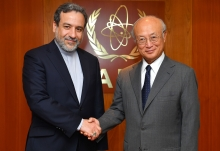 IAEA Director General Yukiya Amano met with Abbas Araghchi, Vice Minister for Legal and International Affairs of the Islamic Republic of Iran, at the IAEA headquarters in Vienna, Austria on 20 July 2017.