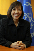 """<br><br>Driven by her interest in people, places, languages and governance, Janice Dunn Lee pursued a bachelor in sociology and a master's in international law and diplomacy. She spent 35 years facilitating international nuclear cooperation in positions such as Deputy Director-General of the OECD Nuclear Energy Agency in Paris, France, and Director of International Programs for the United States Nuclear Regulatory Commission. Janice held the position of Deputy Director General and Head of the Department of Management at the IAEA from 2012-2016.<br><br> She credits her successful career development to having a supportive family, mentors and sponsors. On reaching a position of leadership, one area of emphasis for her was in the area of gender and diversity hiring. She also encouraged women to study STEM subjects.<br><br> Now retired, Janice chairs a Committee of Experts for the National Academies of Sciences, Engineering, and Medicine on advanced nuclear reactor options for the future.<br><br> Janice's advice to young women and future leaders is """"do your job and do it well. Focus on what is in front of you and don't worry about the next level or what you will be doing five years from now. That will take care of itself if you do your best now."""""""