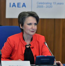 """<br><br>With a family of medical professionals, a PhD and Doctor of Science degrees in medical sciences and radiation safety, and field experience in managing consequences of 1986 Chernobyl NPP accident, Elena Buglova went on to head up of the IAEA's Incident and Emergency Center, including times when it went into 54 days around-the-clock operations to response to Fukushima Daiichi accident. Elena's involvement with the IAEA began in 1995 at an IAEA workshop where she shared the results of her research on radiation-induced thyroid cancer risks, which later informed the development of the relevant IAEA safety standards.<br><br> A strong supporter of putting gender equality in practice, Elena encourages women to break the glass ceilings in their minds, and highlights professional self-confidence stemming from continuous learning as a key attribute for success. Supportive supervisors, she says, are very important to helping women to pursue their professional objectives, as well as organizational arrangements that promote policy of gender equality that enable women to advance their careers and enjoy a balanced family life.<br><br> Elena is currently the Director of the Division of Nuclear Security at the IAEA.<br><br> Elena's advice to young women and future leaders is to """"persevere in achieving your goals, and always keep learning to be open to new horizons."""""""