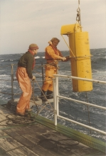Scientists from the Marine Environment Laboratories, Monaco. Date unknown. Please credit IAEA