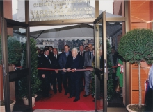 The current Marine Environment Laboratories were inaugurated on 5 October 1998 by H.S.H. Prince Rainier III of Monaco and the IAEA Director General, Dr. Mohamed ElBaradei. Pictured also is H.S.H. Prince Albert II of Monaco. 1998. Please credit IAEA