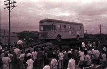 Unloading at Gwangju railway station. 12 July 1960. Please credit IAEA/HAEUPL Josef