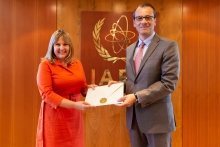 The new Resident Representative of Slovenia to the IAEA, HE Ms Barbara Žvokelj, presented his credentials to Cornel Feruta, IAEA Acting Director General at the Agency headquarters in Vienna, Austria, on 20 August 2019