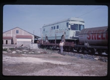 The lab was transported by train due to road closures caused by flooding of the Parana river. June 1963. Please credit IAEA