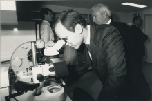 At the inauguration of the new laboratories site. 1988. Please credit IAEA