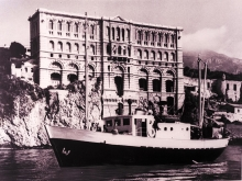 Monaco's Musée Océanographique, inaugurated in 1910, is hewn within solid rock and was the original location of the Laboratories when it opened in 1961. The early work of Laboratories focused on the transport of radioactive material by sea, the effects of radioactivity on fish and marine life, the migration of radioisotopes in the sea bed and the chemical and molecular effects of the sea.  1960-1966. Please credit IAEA