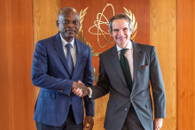 HE Mr Robert Dussey, Minister for Foreign Affairs of the Togolese Republic met with IAEA Director General Rafael Mariano Grossi during his official visit to the Agency headquarters in Vienna, Austria, 11 March 2020.