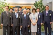 IAEA Director General Yukiya Amano met with the Japanese Parliamentary Delegation at the IAEA headquarters in Vienna, Austria on 30 July 2018.