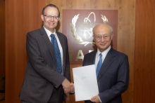 The new Resident Representative of the Luxembourg, Marc Ungeheuer, presented his credentials to IAEA Director General Yukiya Amano at the IAEA headquarters in Vienna, Austria on 24 August 2017