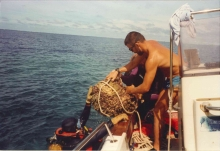 A campaign led by the IAEA Environment Laboratories in Seibersdorf and Monaco from 1996 to 1998, evaluated residual radioactive materials in French Polynesia both in the terrestrial and aquatic environment. 1996. Please credit IAEA