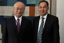 Visit of Mr. Kasit Piromya, Minister for Foreign Affairs of Thailand, to IAEA Director General Yukiya Amano, IAEA, Vienna, Austria, 24 June 2010.