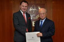 Presentation of credentials by the new Resident Representative of the former Yugoslav Republic of Macedonia, Mr Kire Ilioski, to IAEA Director General Yukiya Amano. IAEA, Vienna, Austria, 19 February 2014.